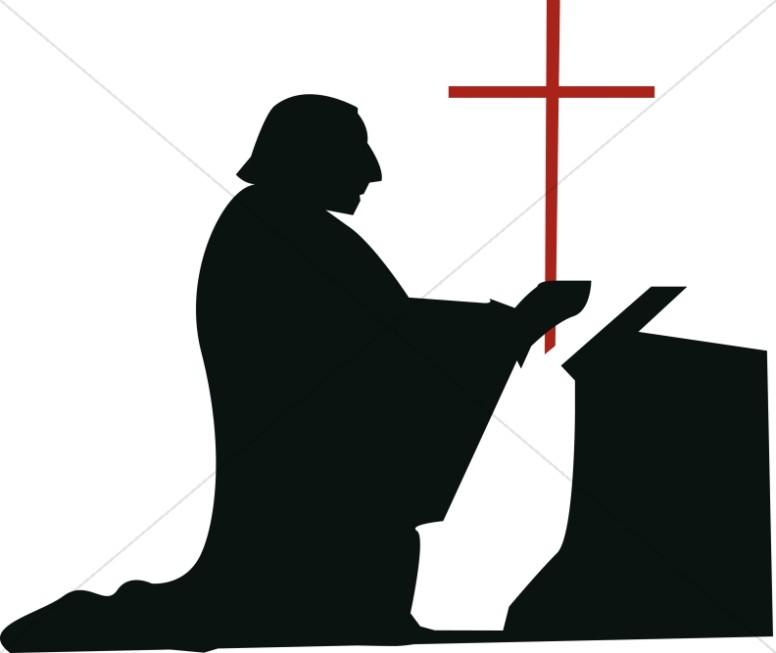 Kneeling Man in Devotion