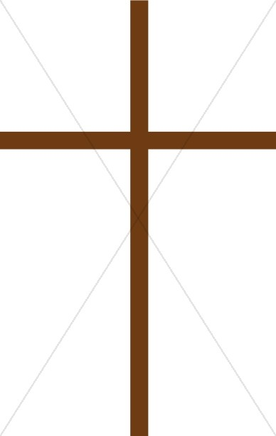 Thin Brown Cross