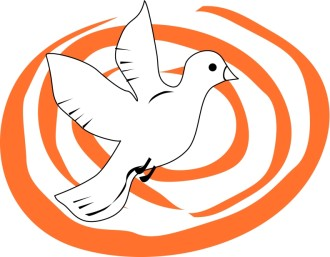 Dove with Orange Swirls