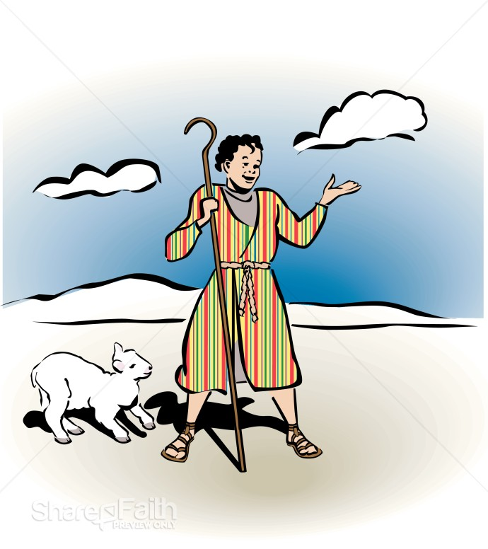 Joseph and Coat of Many Colors | Children's Church Clipart