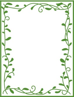 Green Leafy Border