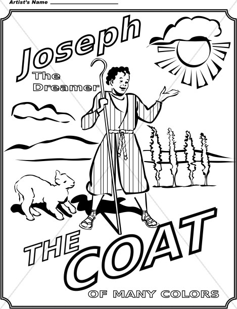 Joseph and coat of many colors children 39 s church clipart for Bible coloring pages joseph