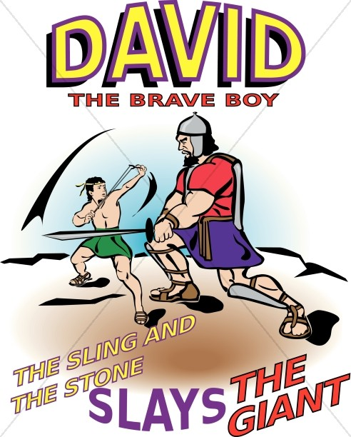 Brave Young David Slays the Giant