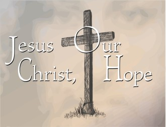 Jesus Christ and Cross with Hope