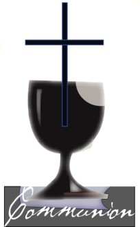 Black Communion Cup with Cross