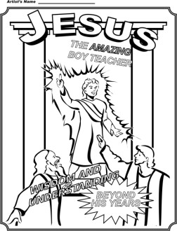 Boy Jesus Coloring Page