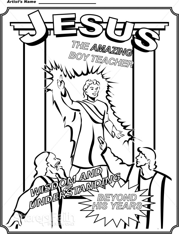 Boy Jesus Coloring Page  Childrens Church Clipart