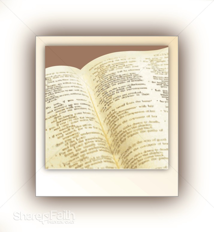 Open Bible with Scripture
