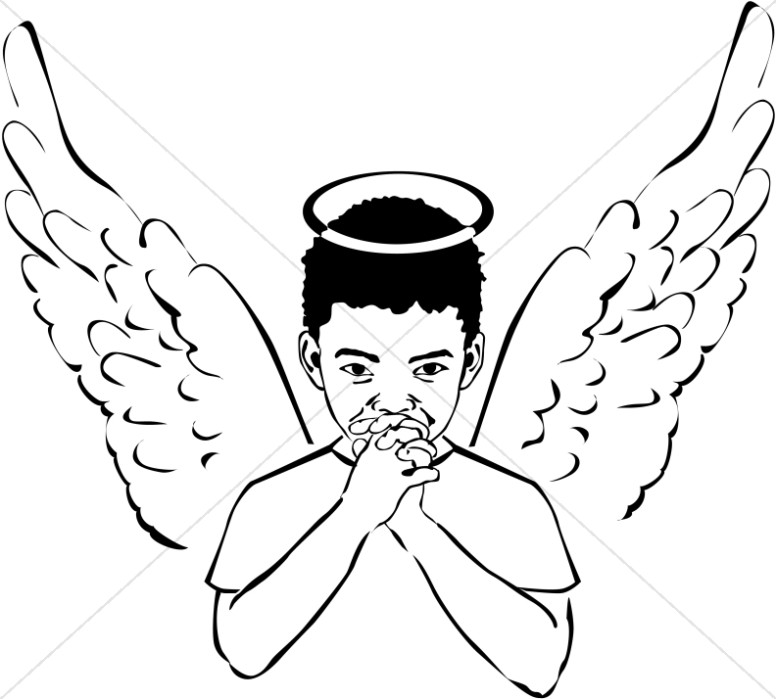 Young Angel Boy Clipart