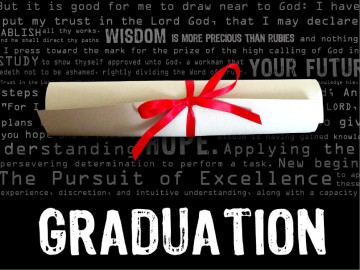Graduation with Rolled Diploma