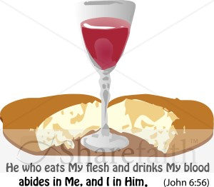 Communion Clipart with John Verse