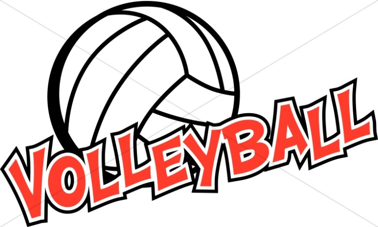 Volleyball with Red Writing
