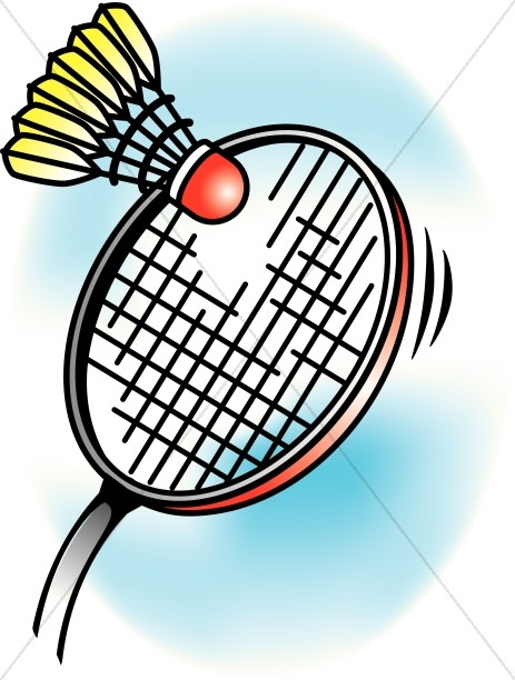 Colorful Badminton | Children's Church Clipart