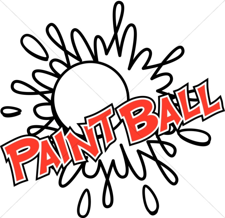 Paintball in Red Letters