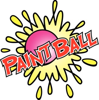 Paintball in Red with Bright Colors