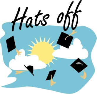Graduation Caps Off