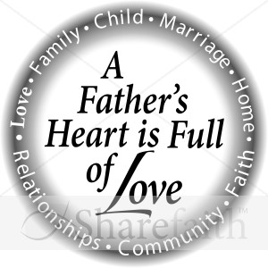 Circle with a Fathers Heart in B&amp;W