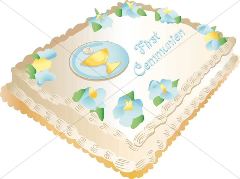 First Communion Sheet Cake
