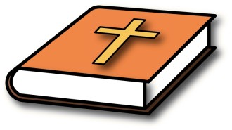 Bible with Orange Cover