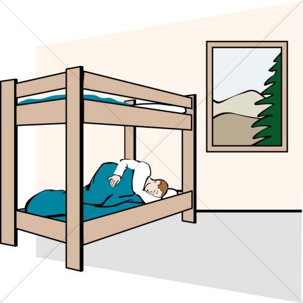 Sleeper in a Cabin Bunk