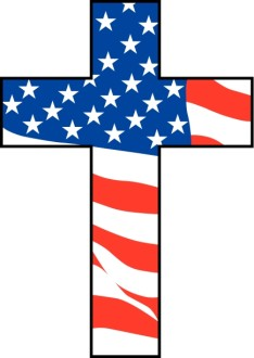 Cross with American Flag