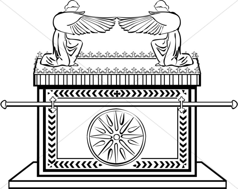 Ark of the Covenant in Black and White
