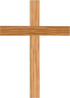 Wooden Cross with Shades of Brown