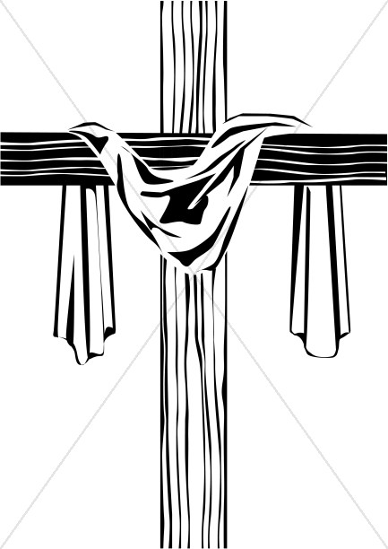 Wooden Cross with Shroud Image