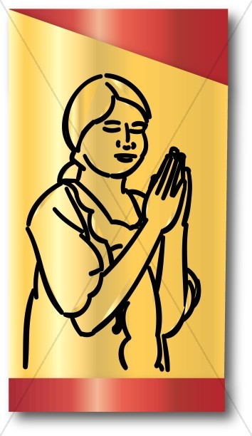 Prayer Girl Clipart