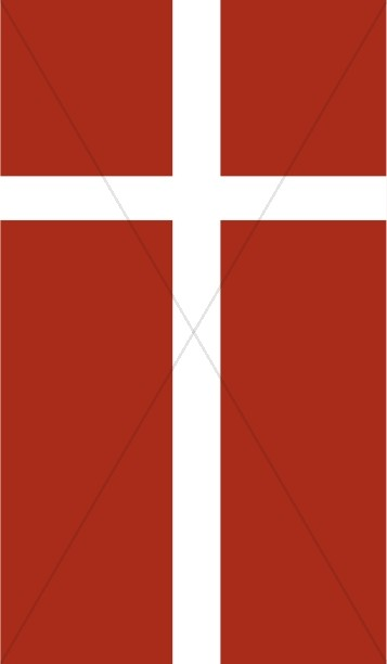 White Cross on Red