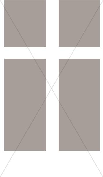 Grayscale Cross