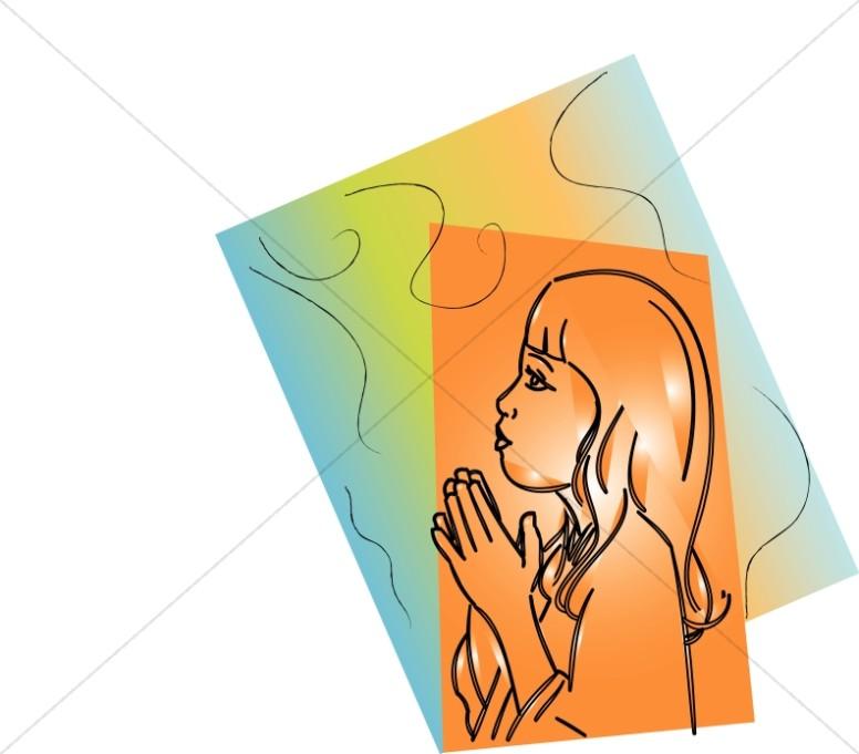 Prayer with a Rainbow