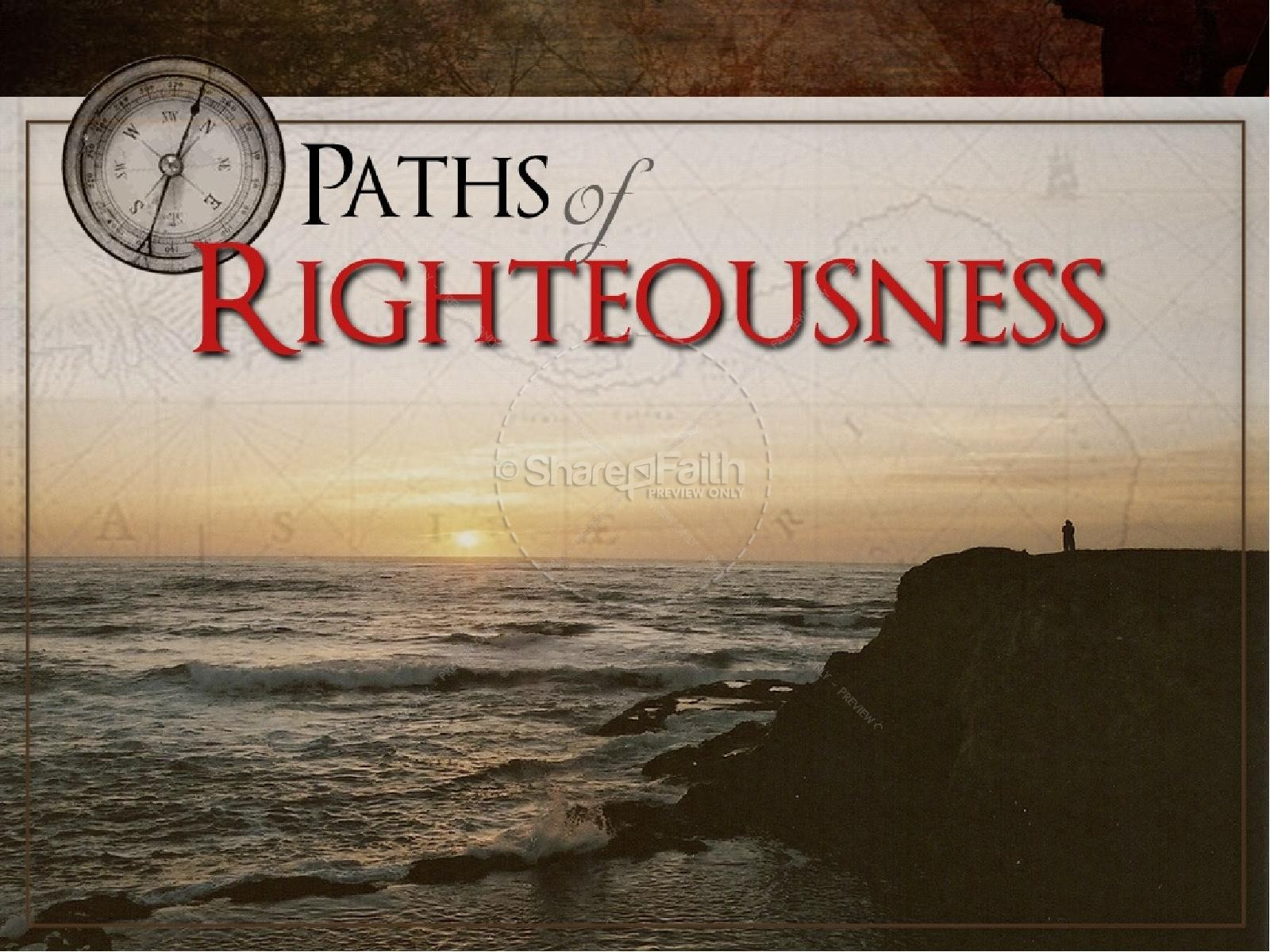 Paths of Righteousness with Compass | slide 1