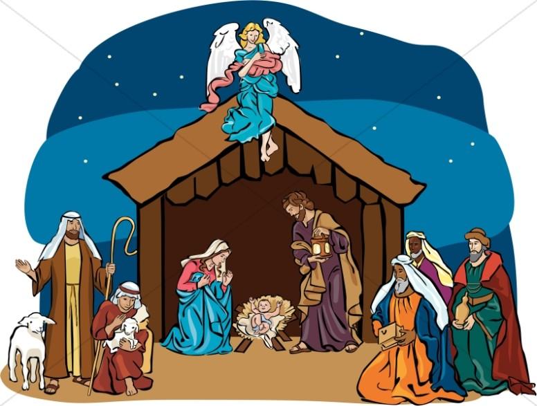 Nativity Clipart, Clip Art, Nativity Graphic, Nativity Image ...