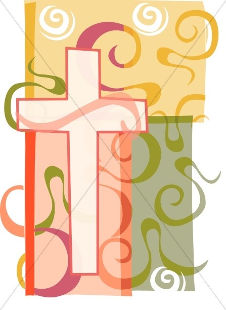 Swirly and Colorful Cross