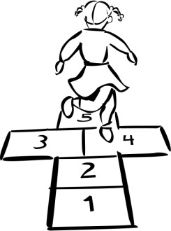 Hopscotch in Black and White