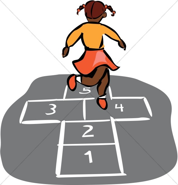 Hopscotch In Color Christian Education Clipart