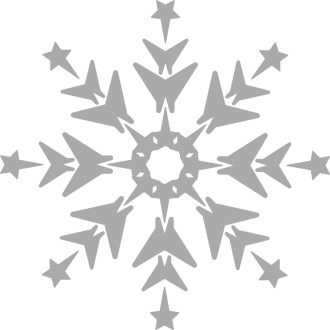 Grayscale Snowflake Clipart
