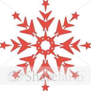 Bright Red Snowflake