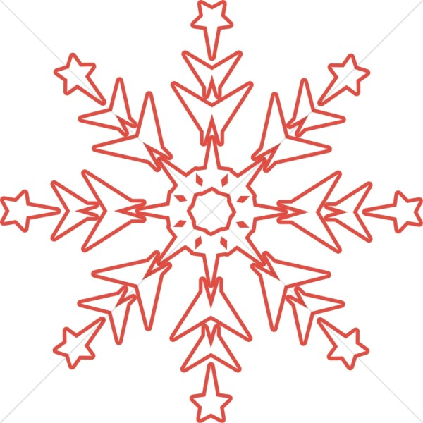 Red Winter Snowflake