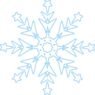 Subtle Blue Snowflake