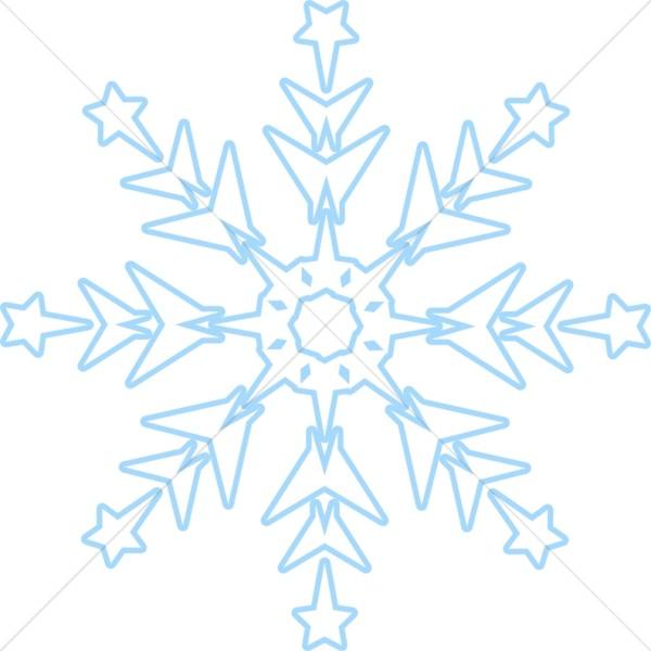 Subtle Blue Snowflake