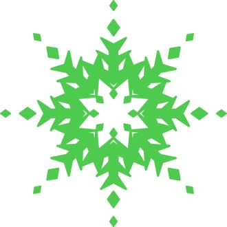 Condensed Green Snowflake
