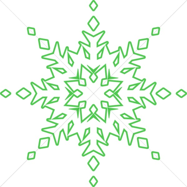 Bright Green Snowflake