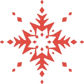 Decorative Red Snowflake