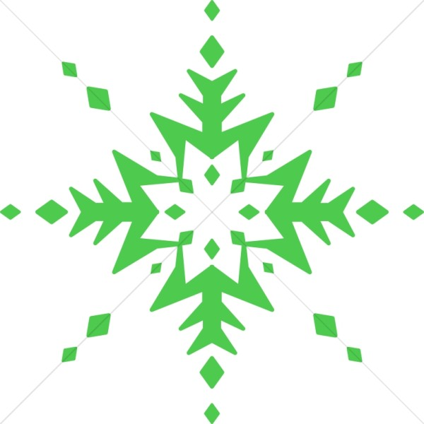 Extremely Green Snowflake