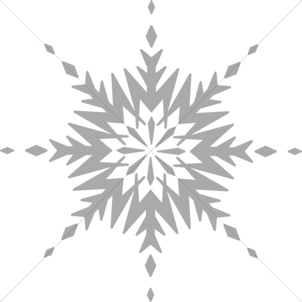 Grayscale Circular Snowflake