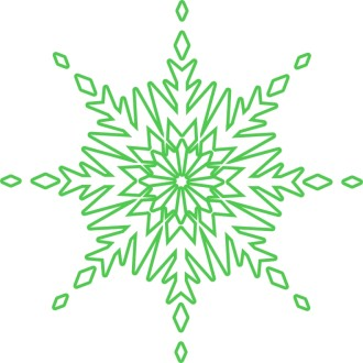 Green Circle Snowflake