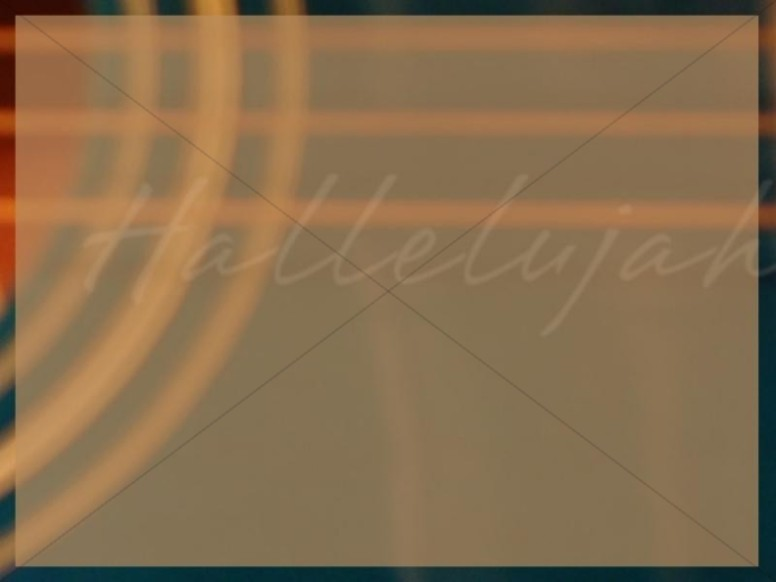 Guitar Strings and Hallelujah Photo Background