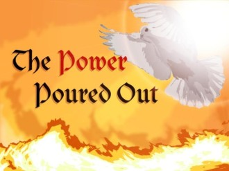 Power Poured Out Christian Background